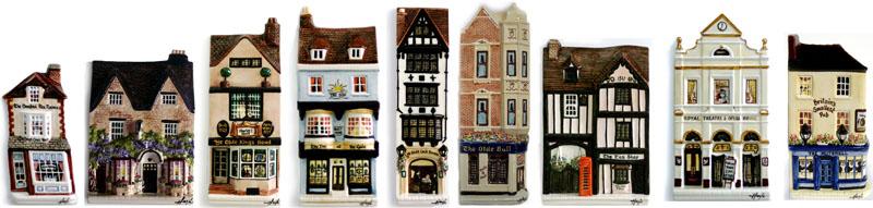Four pubs, Three Tea shops, a Coffee shop and a Theatre
