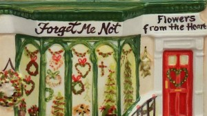 forget me not christmas florist detail