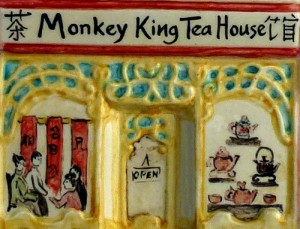 Monkey King Tea House detail